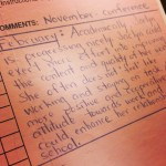 Second grade report card for a girl with ADHD